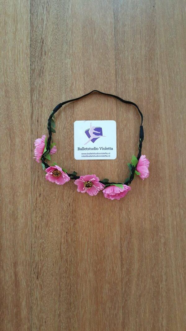 haarband roze bloemetjes